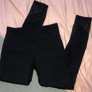 Victoria's Secret Black leggings with MESH
